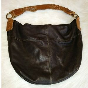 Lucky Brand 100% Leather Slouchy Hobo Tote